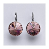 Swarovski krystaly Rivoli light rose 12 mm, NK 1468
