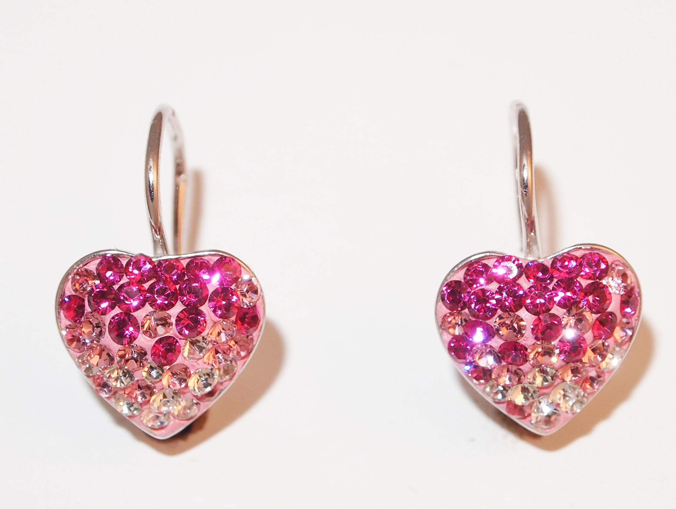 Stříbrné náušnice s krystaly Swarovski Romantic Heart B360113 e22ce1f9453