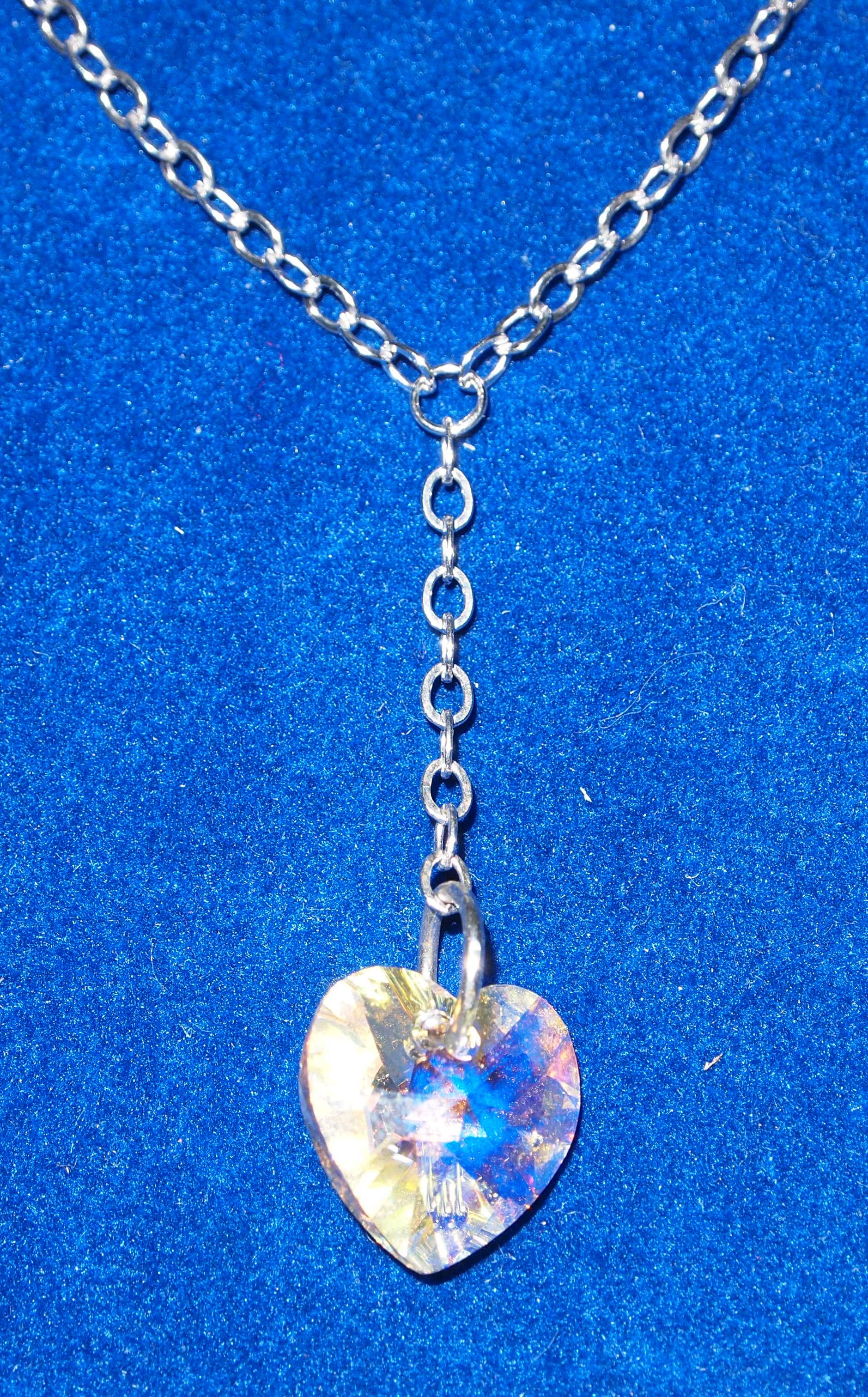 Stříbrný náhrdelník SWAROVSKI - srdce BIS41 720724141b5